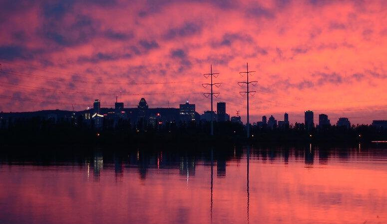 coucher de soleil, parenthèse